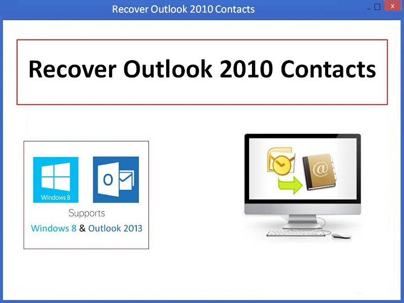 Screenshot of Recover Outlook 2010 Contacts 3.0.0.7